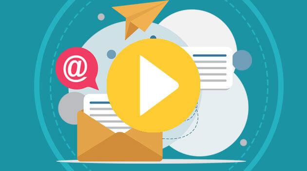 visuel illustrant un flux de courriers avec des mails, des lettres